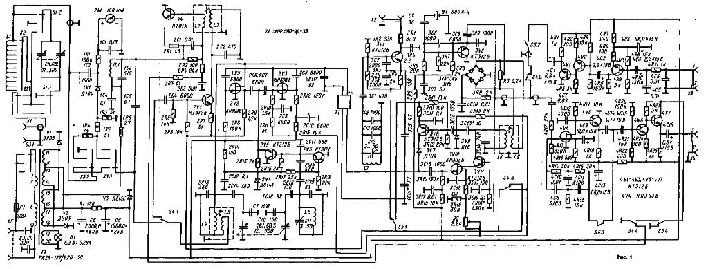 Базовый приемник кв радиостанции схема