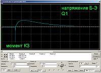 Нажмите на изображение для увеличения.  Название:напряжение на Q1 Б-Э момент КЗ.jpg Просмотров:182 Размер:227.2 Кб ID:322306