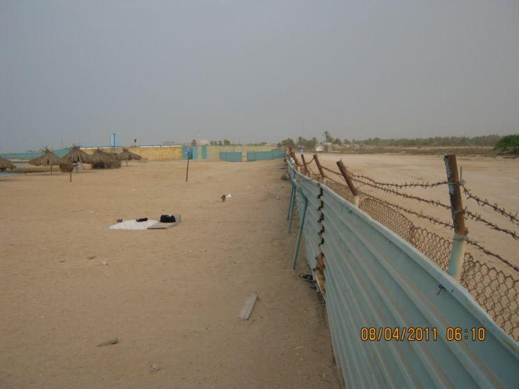 Пляж (и граница территории)