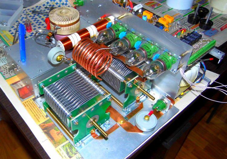 Монтаж усилителя на лампе ГИ-46Б