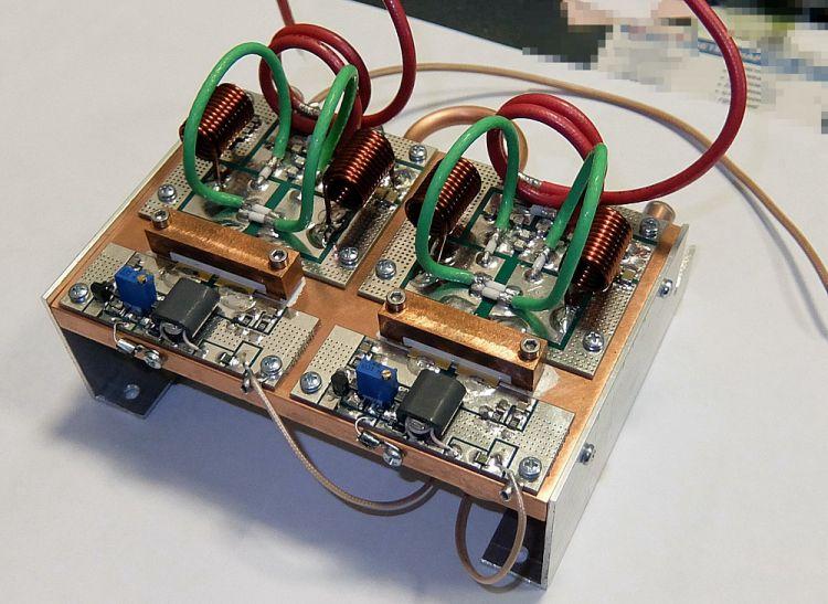 УКВ 2000 Вт усилитель на 2-х BLF188XR с водяным охлаждением