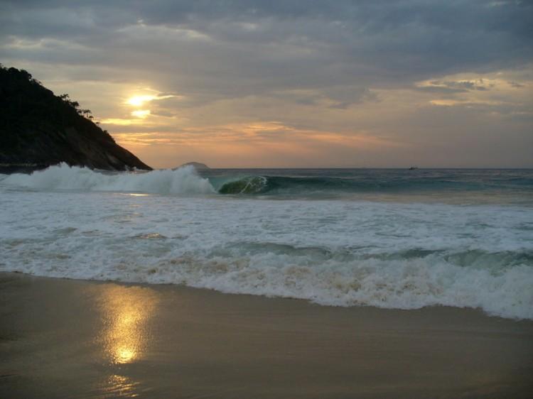 Вечерний пляж в Рио де Жанейро, мечта Остапа