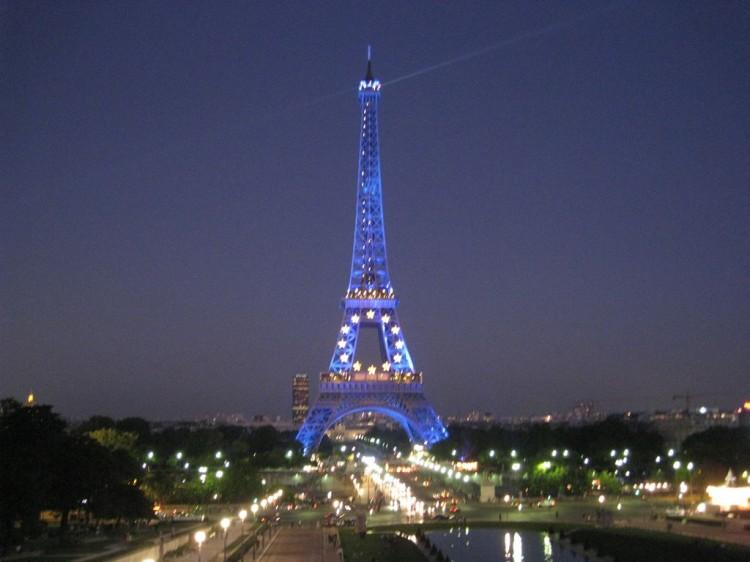 Париж, башня, Марсово поле.