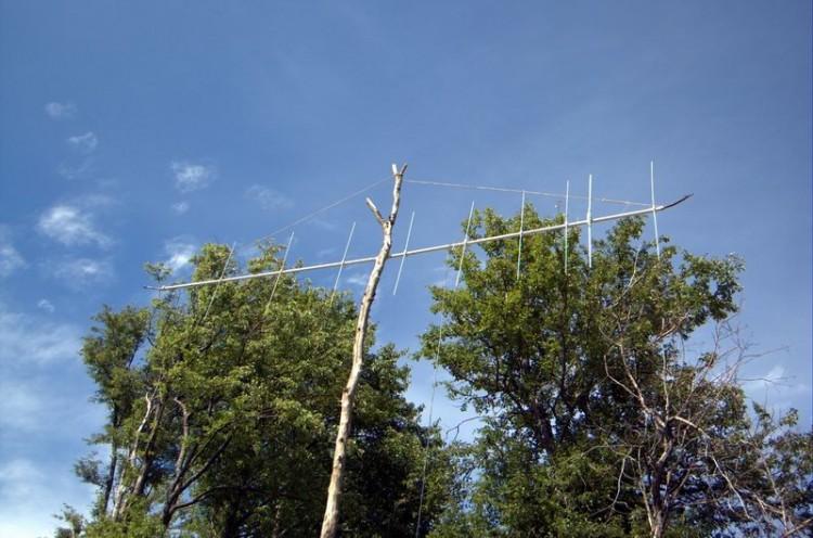 Вариант установки антенны из подручных средств