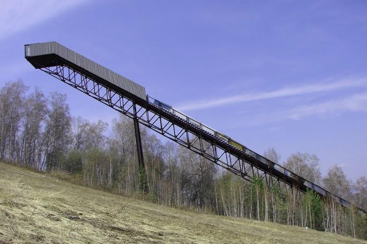 Большой лыжный трамплин на Николаевской Сопке в г. Красноярске.