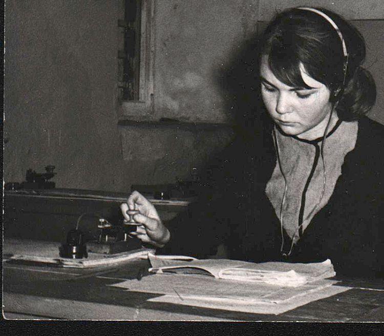 1960-е. Тарасова Галина. Оператор UA3KNB.