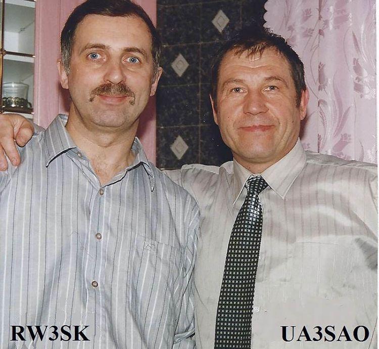 RW3SK Игорь Лисненко, UA3SAO Анри Правдюк. 1990-е.