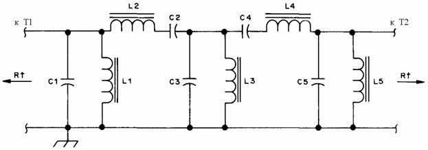 схема SSB аудио-фильтра.