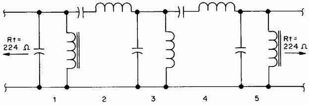 схема полосового фильтра.