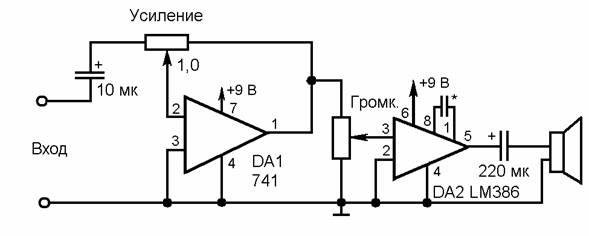 Аналог ИМС 741 – 140УД7.