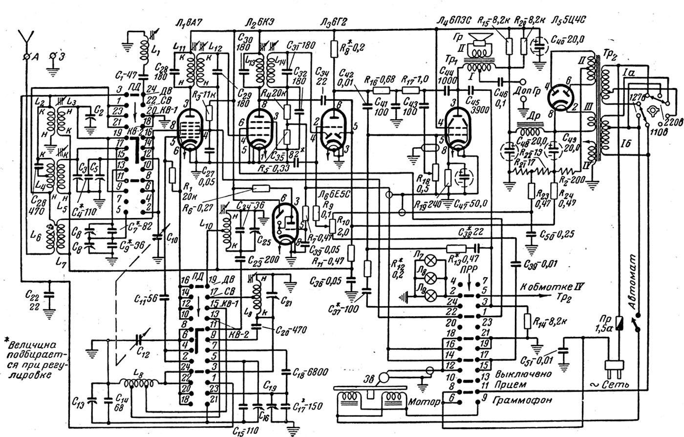 Радиола урал 111 схема фото 842