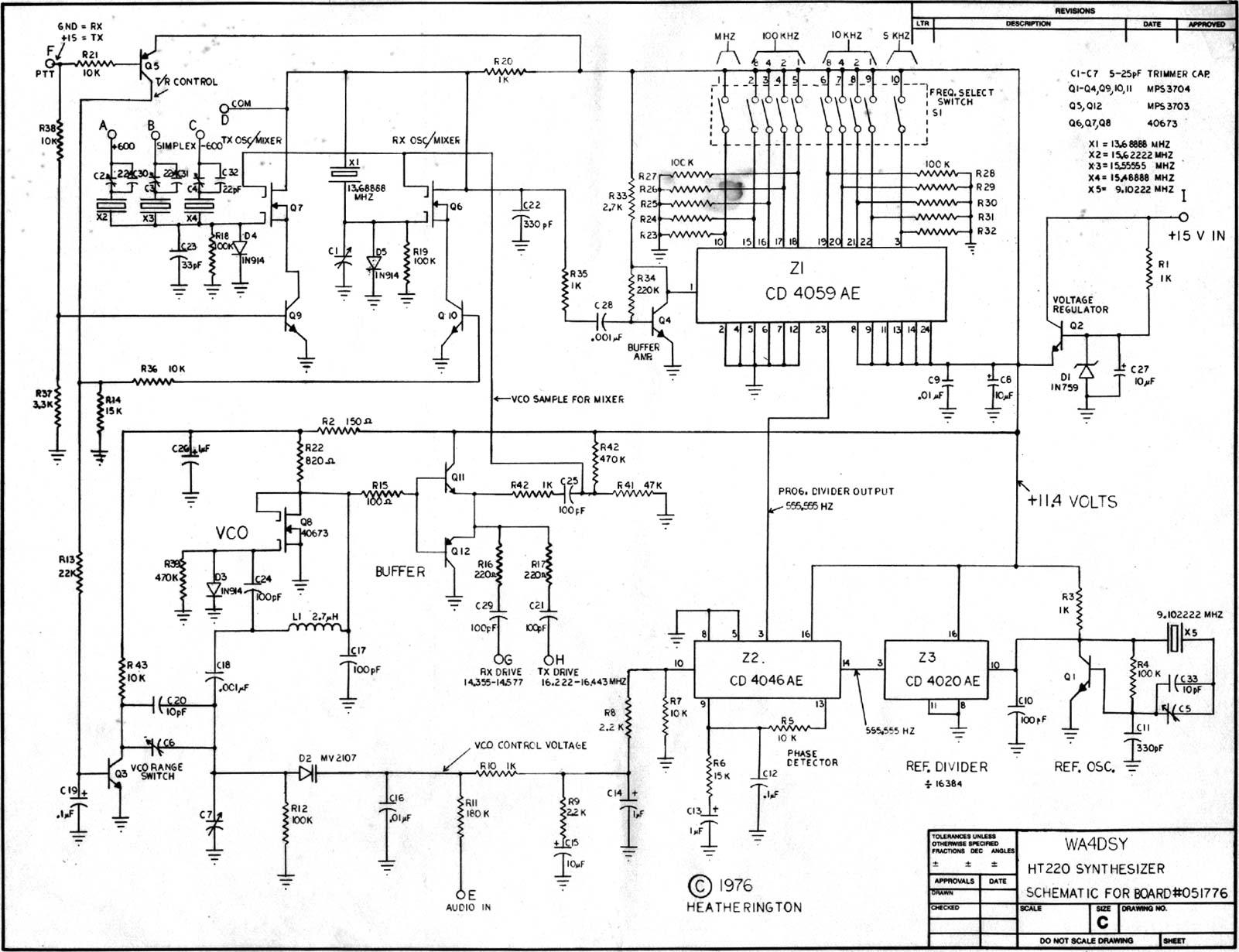 ht220 frequency synthesizer rh cqham ru Synthesizer Breadbpard Diagram Synthesizer Diagram Screensaver